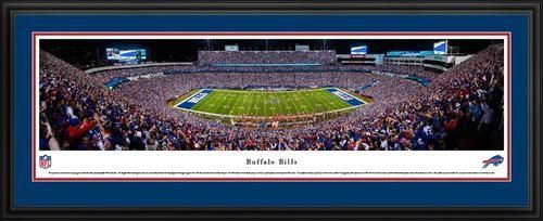 Buffalo Bills Panoramic Picture Deluxe Matted Frame