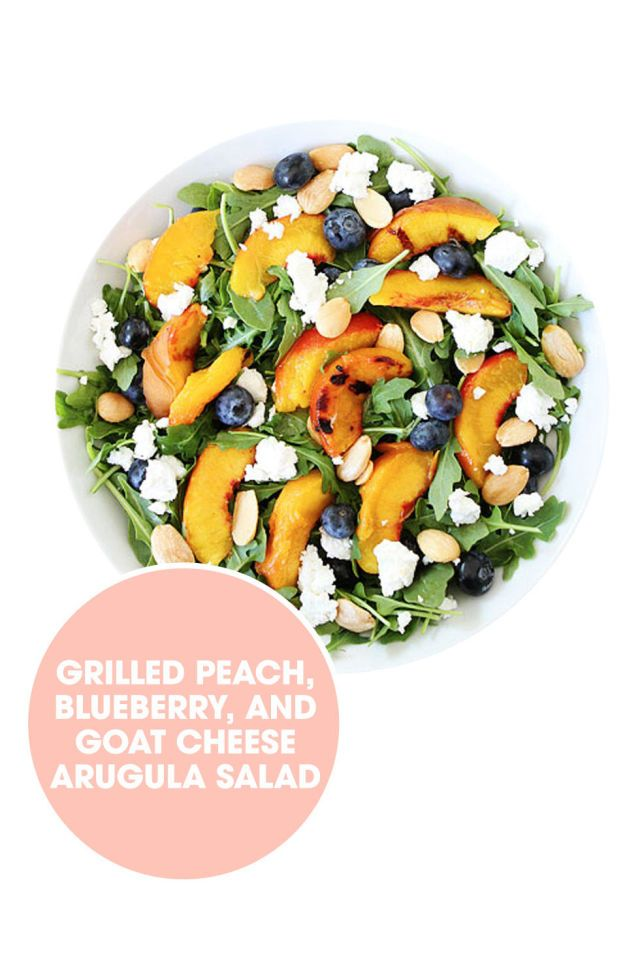 Sweet peaches put a Southern spin on this summer salad. Get the recipe from Two Peas and Their Pod. - ELLE.com