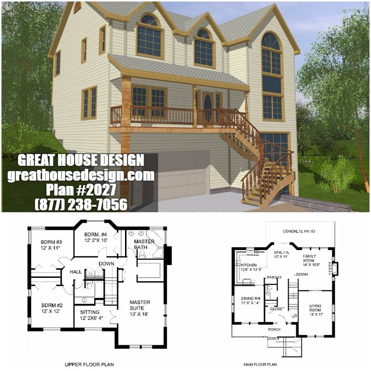 icf home designs%0A Sloping Lot ICF House Plan        Toll Free