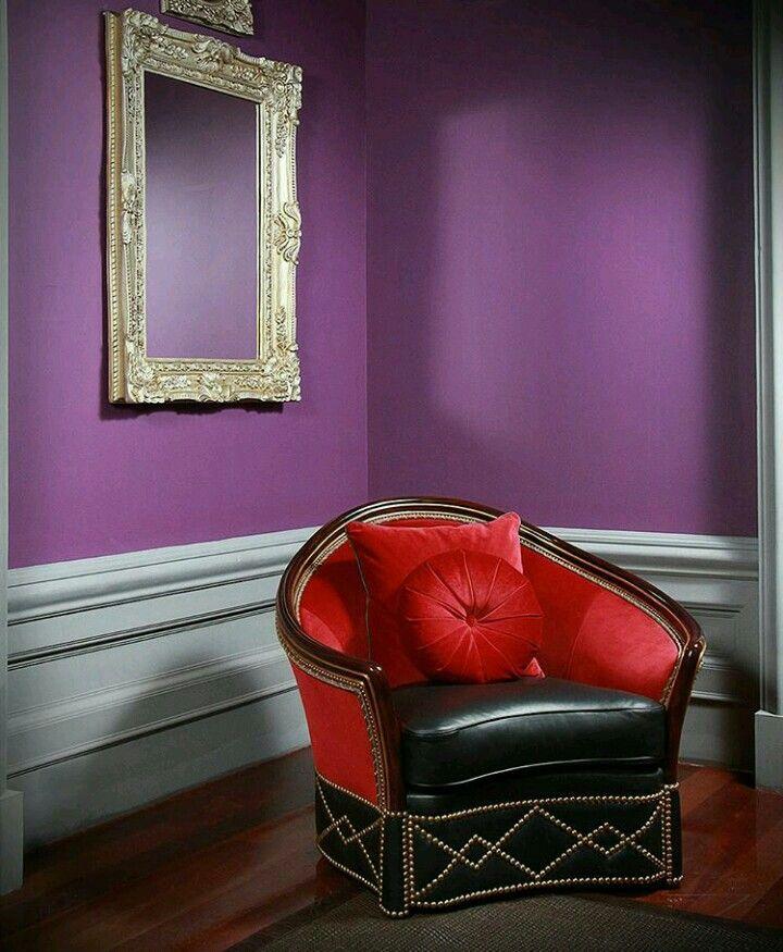 Victoria Collection by Elizabeth Oxford Creations  Interior design - armchair - classic - contemporer - idea design - red - black - purple