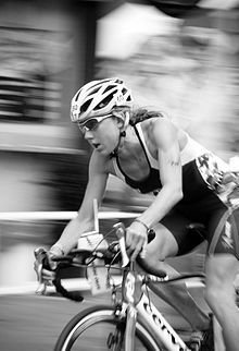 Christine Ann Wellington MBE (born 18 February 1977) is an English triathlete and four-time Ironman Triathlon World Champion. She holds all three world and championship records relating to ironman-distance triathlon races