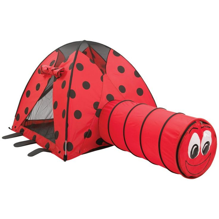 Pacific Play Tents Ladybug Nylon Play Tent and Tunnel Combo - 20420
