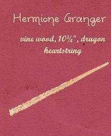 Hermione Granger's wand.  Vine Wood, dragon heart string.  10 3/4 inches.