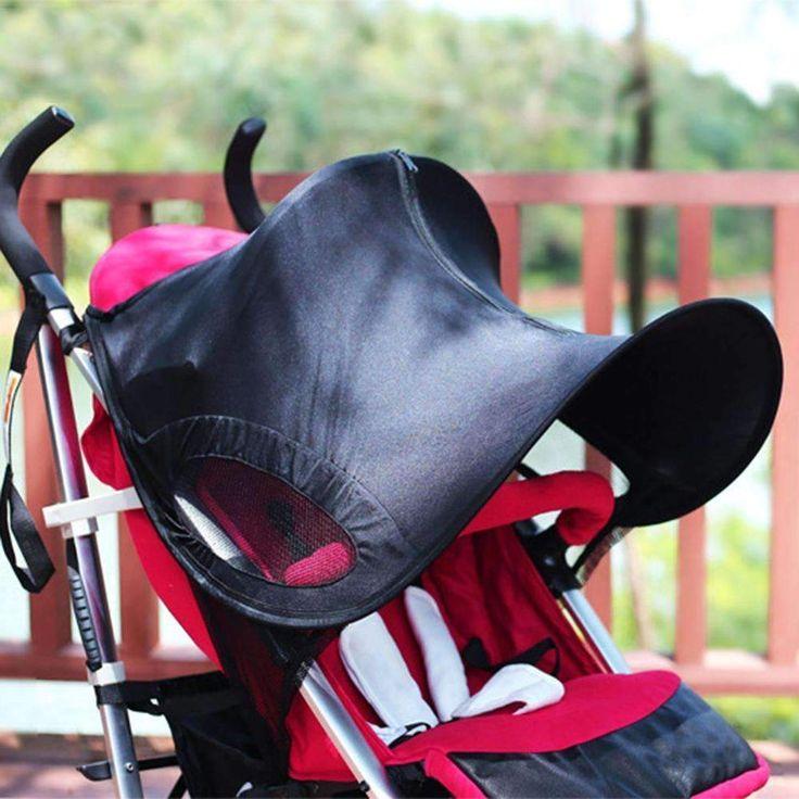 Baby Trolley Awning Roof Anti-Uv Waterproof Umbrella Universal Folding Baby Stroller Protect Accessory Stroller Rag Shade Blocks