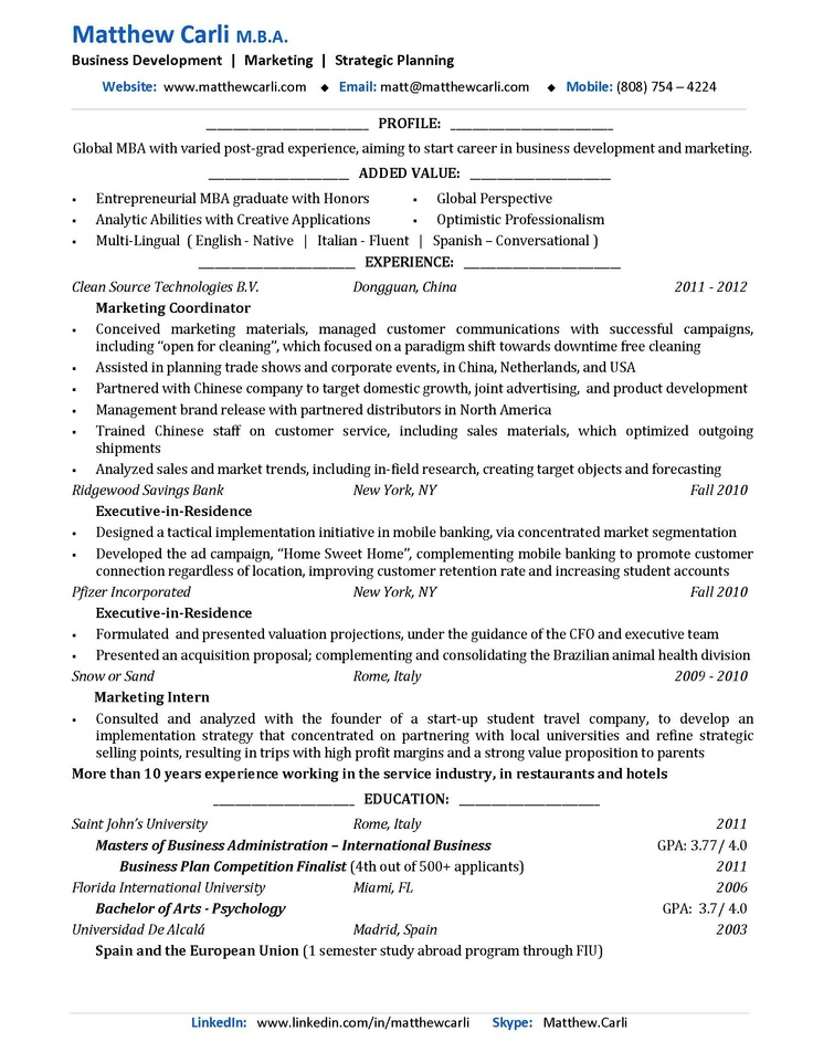14 best RESUMES images on Pinterest Sample resume, Resume design - study abroad resume