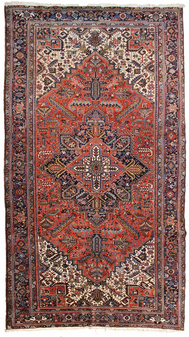 Antique Oversize Heriz Rug    Hand-knotted in Persia  Circa 1930