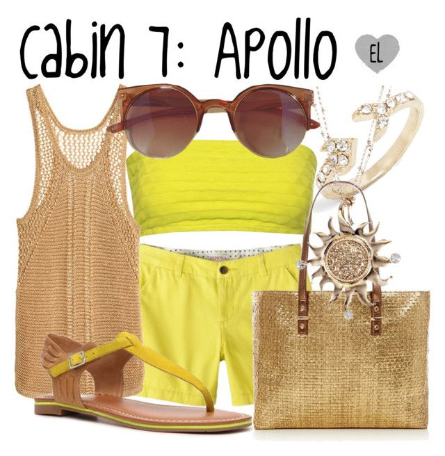 """Cabin 7: Apollo -- Percy Jackson & the Olympians"" by evil-laugh ❤ liked on Polyvore featuring Jane Norman, H&M and Dolce Vita"
