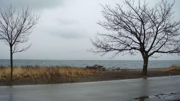 Hamilton, Ontario Rain in Winter