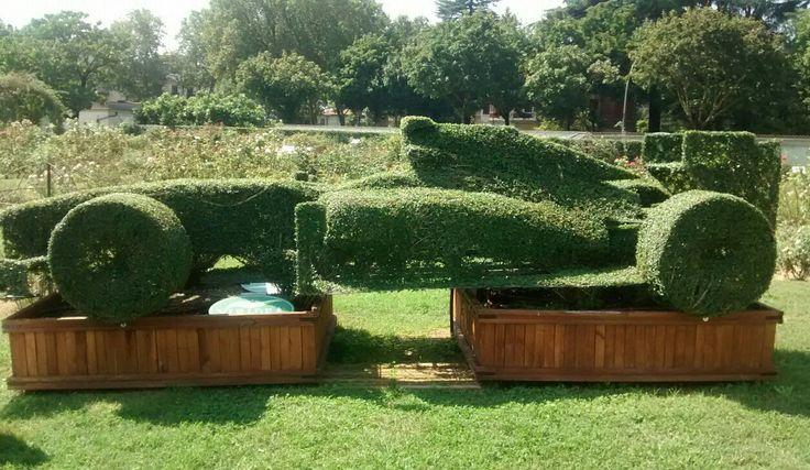 Ferrari topiary at Roseto della Villa Reale, Monza.  km. 0!!