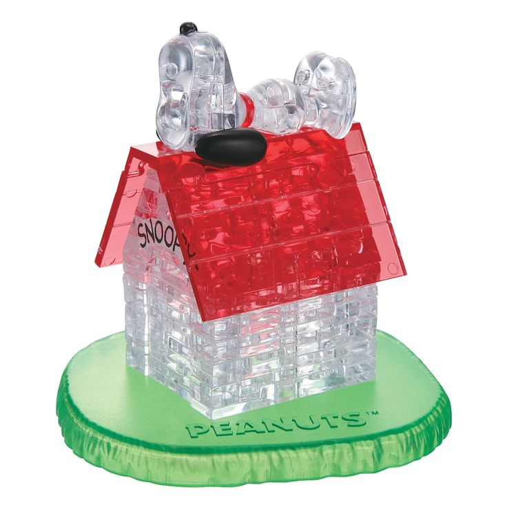 Bepuzzled 3D Crystal Snoopy House 50-piece Puzzle