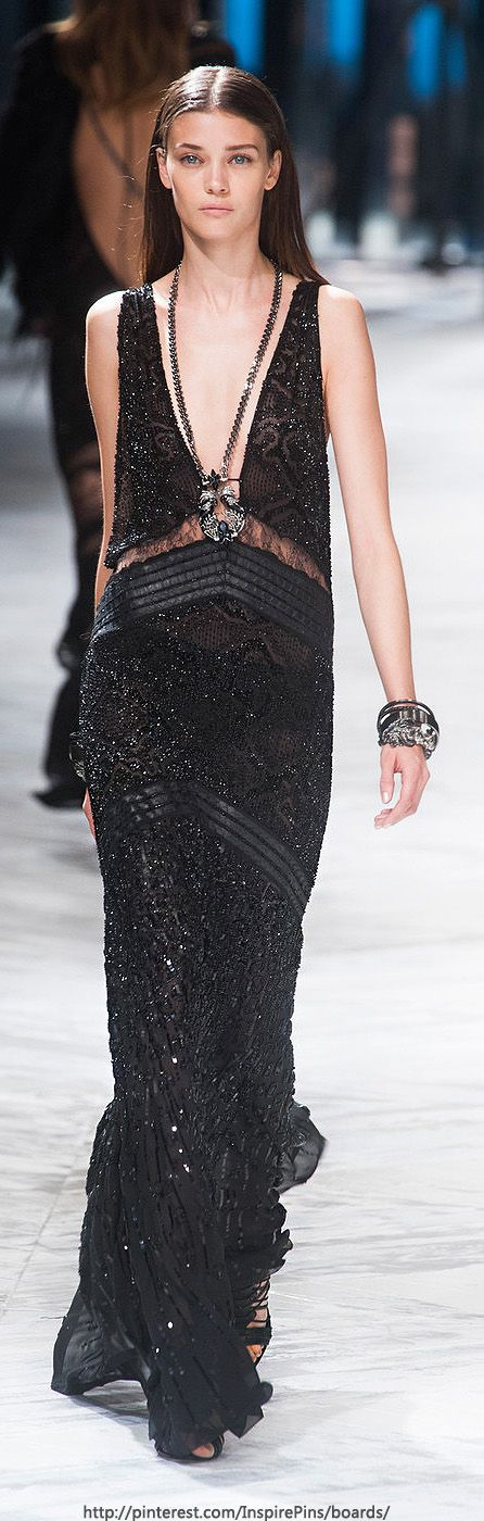 Roberto Cavalli, 2014...yes yes yes, so chic! This would have looked great on the Emmy's red carpet!