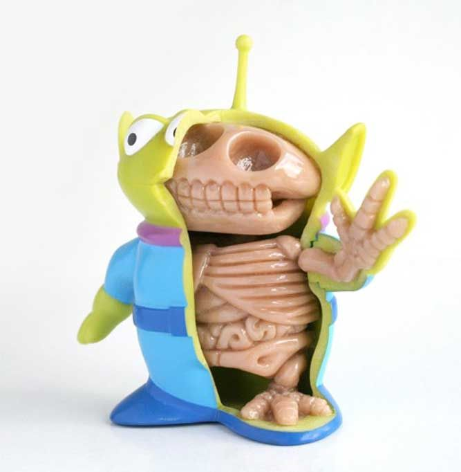 Above: Toy Story Alien Character Design.     Character Designer Jason Freeny