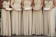 tan bridesmaids dresses - Google Search