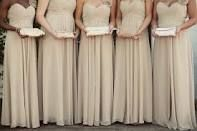 tan bridesmaids dresses - Google Search