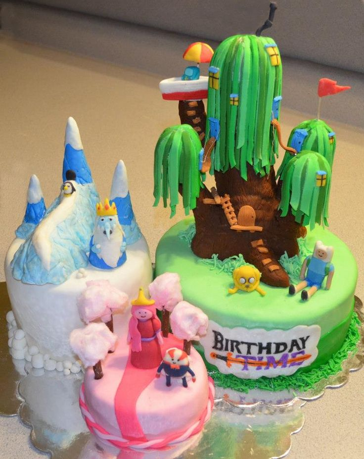 Now thats cool! Adventure Time Cake