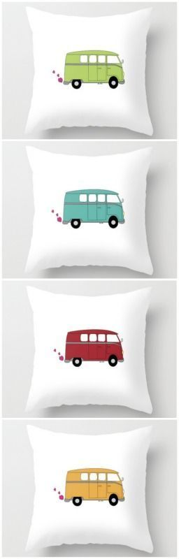 """Love Bug Throw Pillows 