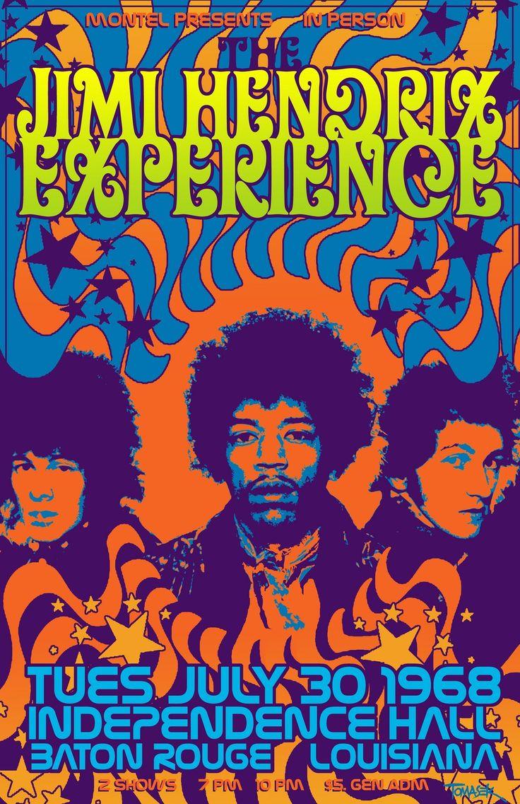the jimi hendrix experience concert poster 169 tomasek