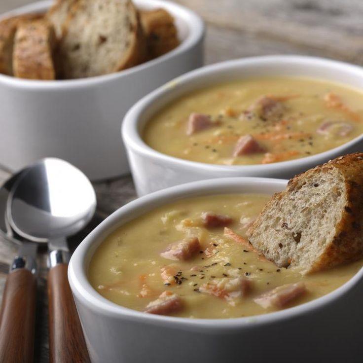 Yellow split pea soup | THM (E) | Pinterest | Yellow split pea soup ...
