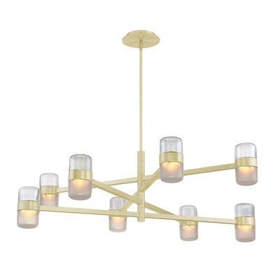 Modern Forms Jazz 8-Light LED Chandelier Finish: Brass/Smoke