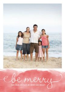 Mixbook Be Merry Watercolor Christmas Cards