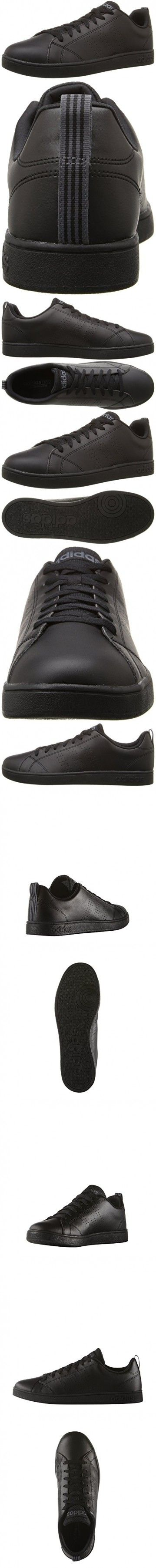 Adidas NEO Men's Advantage Clean VS Fashion Sneaker, Black/Black/Lead, 7.5 M US