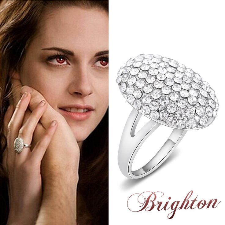New Popular Film Twilight Bella Engagement Rings With Full Crystal Fashion Zinc Alloy Rings For Women Wedding Jewelry