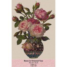 Roses in Oriental Vase