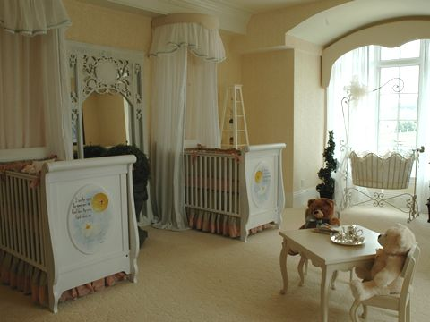 Fantasy Nursery For Twin Girls By Carol Raley Interiors. | CAROL RALEY  INTERIORS (MY WORK) | Pinterest | Twin Girls, Nursery And Twins