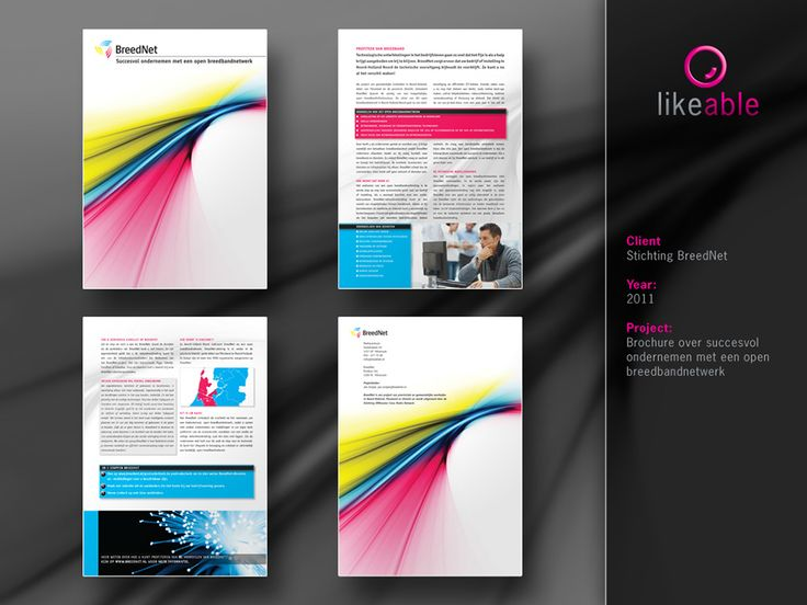 #LikeableDesign #MartijnKoudijs #BrochureDesign #GraphicDesign #Breednet www.likeable.nl