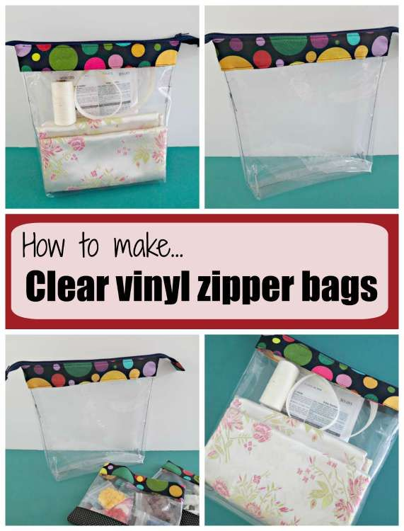 How to make clear vinyl zipper bags | Bags, purses and totes