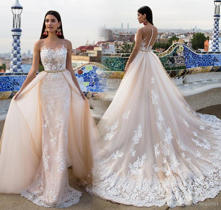 Luxury Tulle OverSkirts 2018 Mermaid Wedding Dresses Covered Button Sashes Wedding Gowns Sweetheart Appliques Chapel Train Wedding Gowns British Wedding Gowns Vintage Wedding Gowns by Kissbridal001, | i dhgate.co