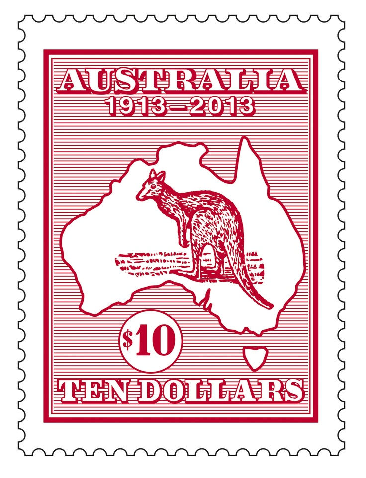 Australia's first national stamp issue - the Kangaroo and Map