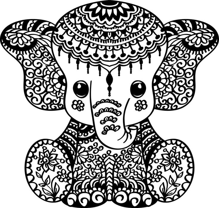 pin by kimberj on circuit ideas elephant coloring page