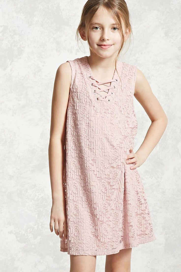 Forever 21 Girls A Sleeveless Knit Dress Featuring A