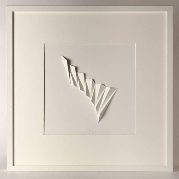 White spiky relief on a soft ground plan: 37x37cm, USD 115.