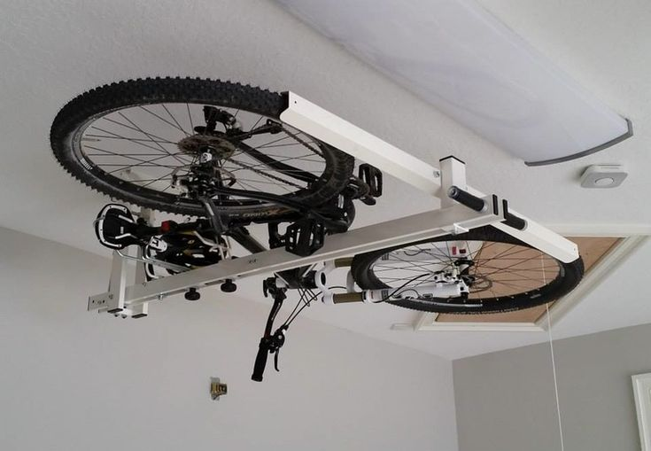 ​Even for people who have garages, stored bicycles can still get in the way. Thats why Codeima Srl created the flat-bike-lift, which allows users to store their rides flat against the ceiling – with a little pneumatic and hydraulic assistance.​