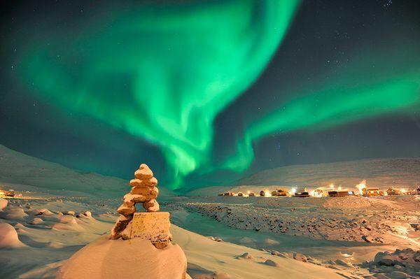The Northern Lights over Nunavut, Canada
