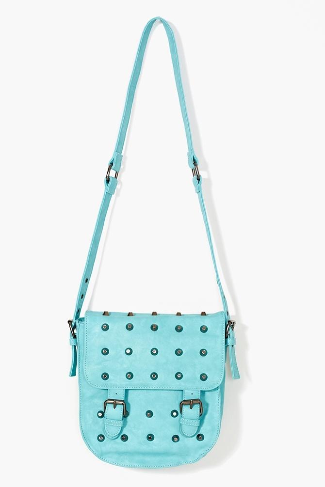 Studded Crossbody Bag - Blue
