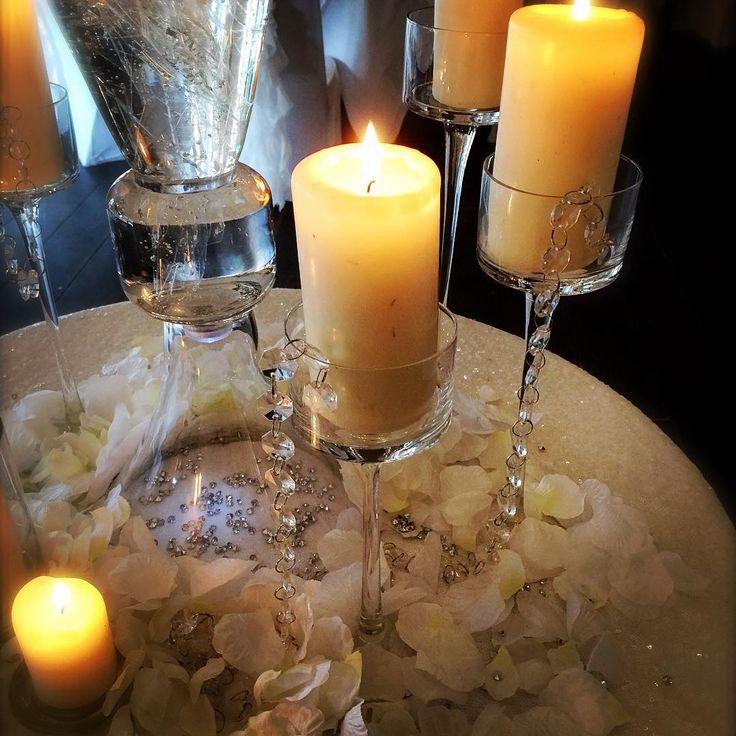 Candles always add romance to any wedding centrepiece setting. #sensationaleventsuk #weddingideas #weddingcenterpiece #weddinginspiration #weddingdecor