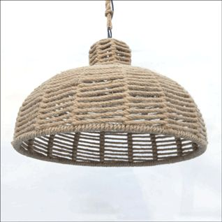 Woven rope pendant light with fittings