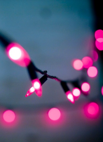 lights twinkly pink