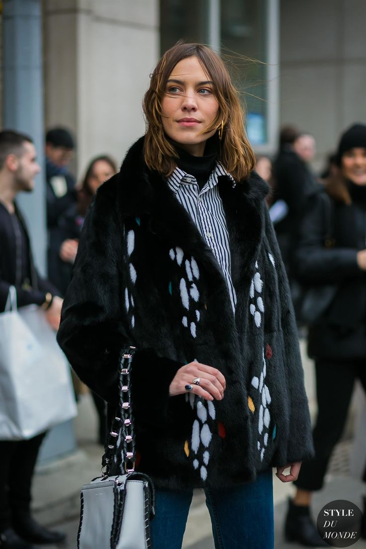 New York Fashion Week Fall 2017 Street Style: Alexa Chung