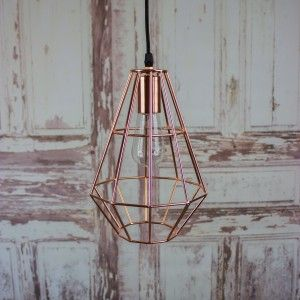 Pernille Copper Pendant Light by Bloominville | thegiftedfew.com | Vintage Industrial Lighting | Warehouse Home Design Magazine