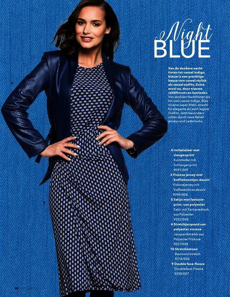 Gezien in... - Ponti Roma Folie Reptiel Blauw - - bij Textielstad Snelle…