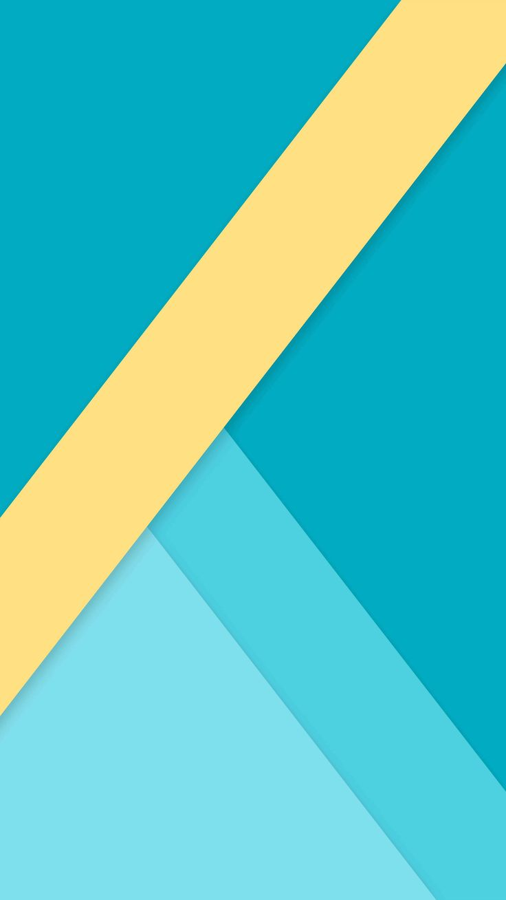 geometric blue yellow