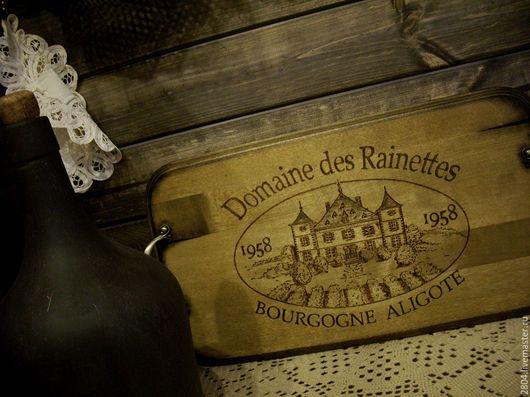 """Кухня ручной работы. Ярмарка Мастеров - ручная работа. Купить Поднос """"Бургундское вино"""" Деревянные подносы ручной работы. Handmade."""