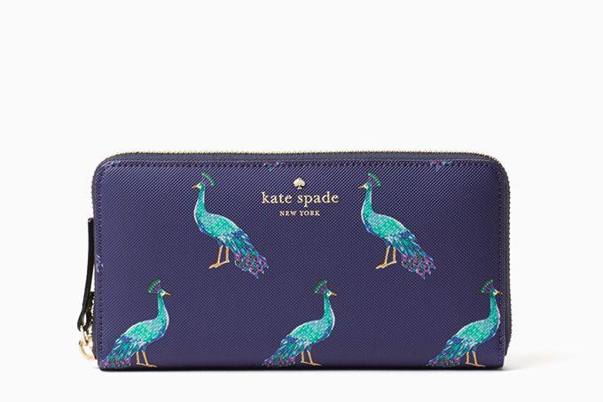 ケイト・スペードから「孔雀」モチーフのバッグや小物、モロッコのガーデンをイメージした深いブルー色 写真7
