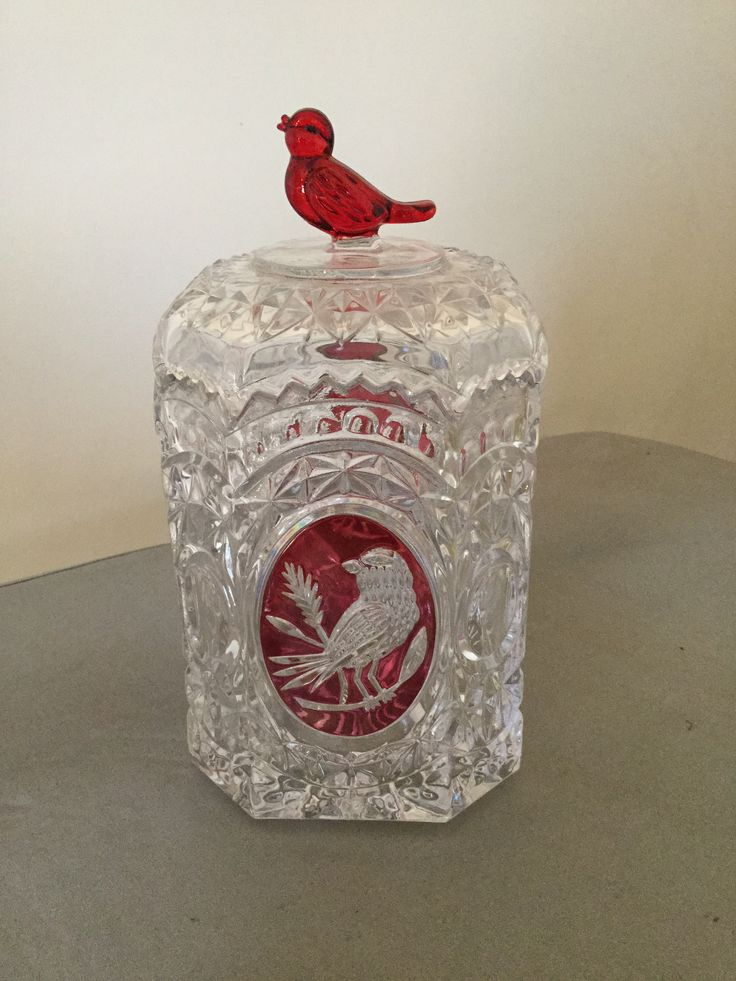 17 Best Images About Red Bird Crystal On Pinterest Ruby Red Set Of And Crystal Vase