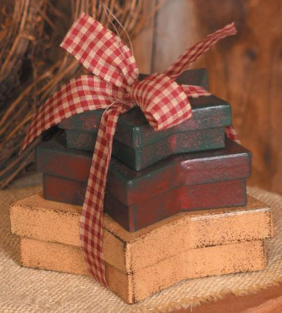 Primitive Stars: Nesting Boxes, Country Primitive Decorating, Primitive Crafts, Nestingboxes, Americana Decoration, Primitives, Primitive Stars, July, Minis