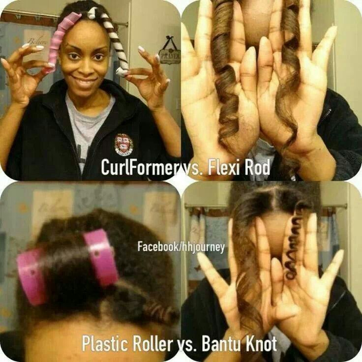 Comparison  Bantu shoe rod breads out Knot curlformer    must I and Rods    Knots Out  Flexi try shoes knot Bantu vs flexi vs   roller bantu